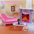 Envío gratis, nueva llegada de la navidad / regalo de cumpleaños los niños juegan conjunto de muñecas muebles de sala accesorios por Barbie
