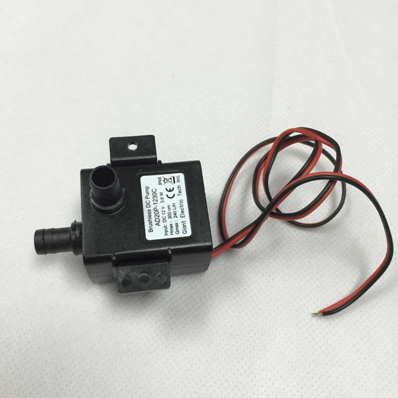 DC 12V 4.8W 240L/H Low Noise Brushless Motor Pump120L/H Mini Mikro Submersible Pompa Air 2019 Baru Dropshipping