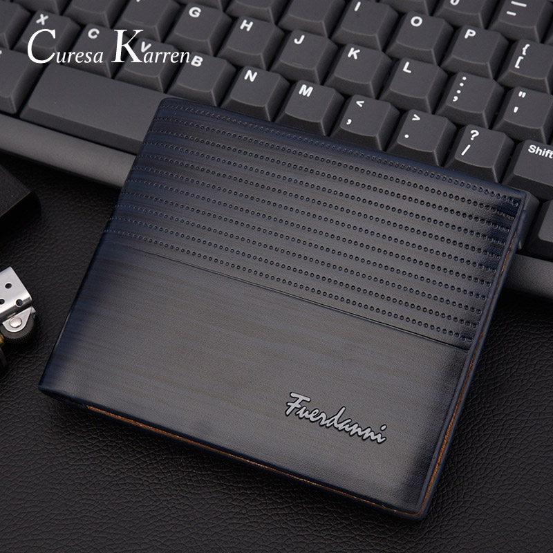 Europe And America Business Casual Fashion Retro Cross Section Embossed Wallet New Men's Short Wallet Large Capacity Wallet