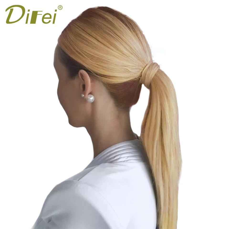 DIFEI 24 '' Lång Straight Clip In Hair Tail False Hair Ponytail - Syntetiskt hår - Foto 3