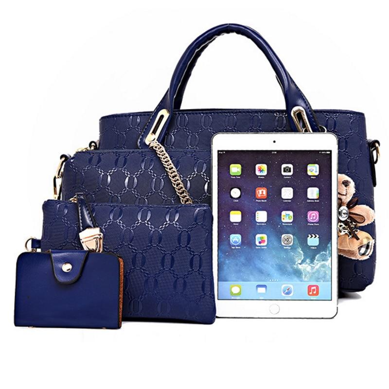 Image 4 - Famous designer SUUTOOP luxury brands women bag set good quality medium women handbag set  new women shoulder bag 4 piece Set-in Shoulder Bags from Luggage & Bags