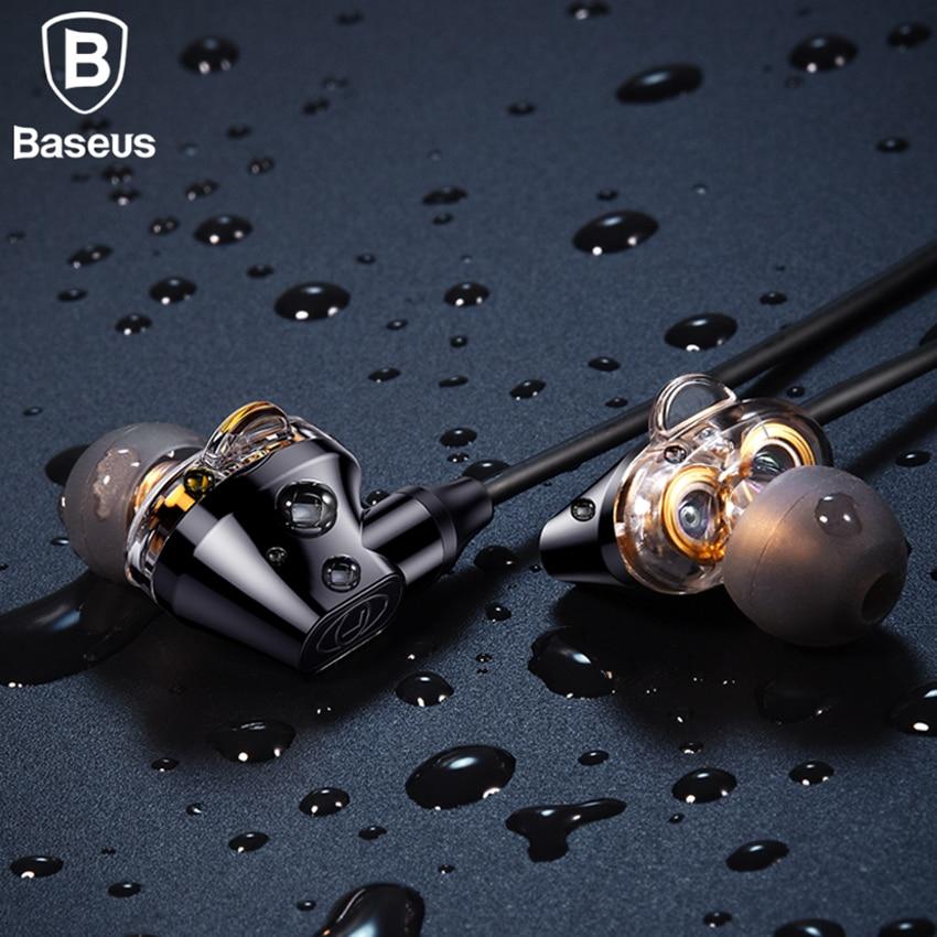 Baseus S10 Bluetooth Earphone IPX5 Waterproof Headphone Double Dynamic Sports Headset Wireless Earbuds With Mic Fone De Ouvido