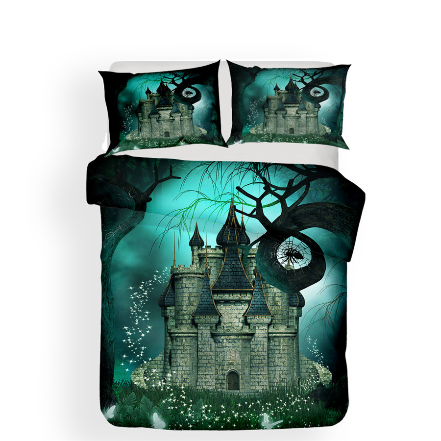 Image 2 - Bedding Set 3D Printed Duvet Cover Bed Set Sea Fantasy Fairy Forest Home Textiles for Adults Bedclothes with Pillowcase #MJSL10-in Bedding Sets from Home & Garden