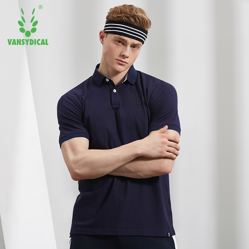 Mens Sports Polo Shirts Running Training Tops Breathable Tennis Golf Jerseys Solid Fitness Workout Tees