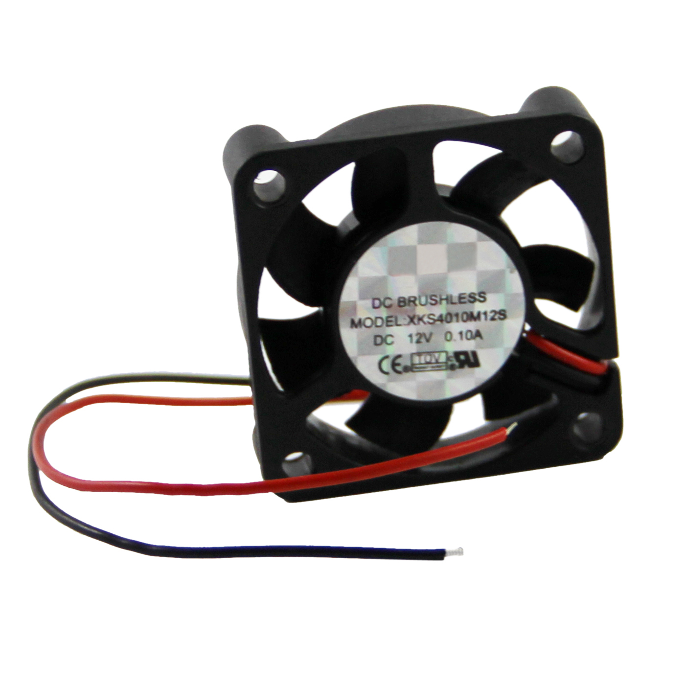 2 Pcs 2 Pin 40mm Square PC Computer Cooler Cooling Fan DC 12V free shipping for sunon kde2406phs2 dc 24v 1 9w 2 wire 2 pin connector 60x60x15mm server square cooling fan