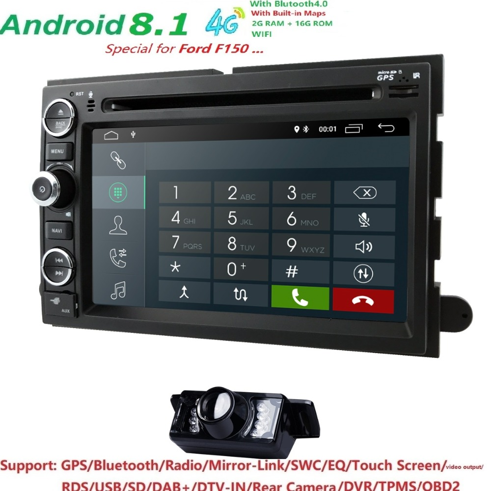 HD 1024 * 600 Android8.1 Car DVD GPS Player per Ford F150 EXPEDITION, - Elettronica per Auto