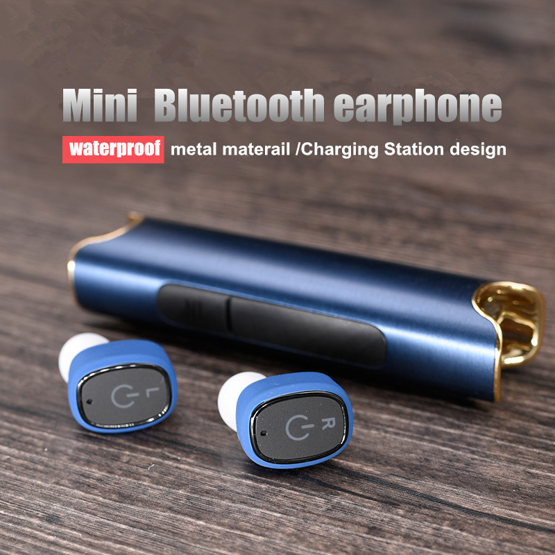 LONGET bluetooth earphone Wireless Waterproof Earbuds with Charging Station Support Handsfree Call  clear loud In ear Headset