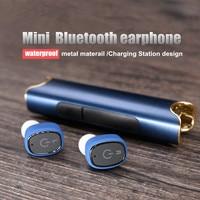 LERBYEE Bluetooth Earphone Wireless Waterproof Earbuds With Charging Station Support Handsfree Call Clear Loud In Ear