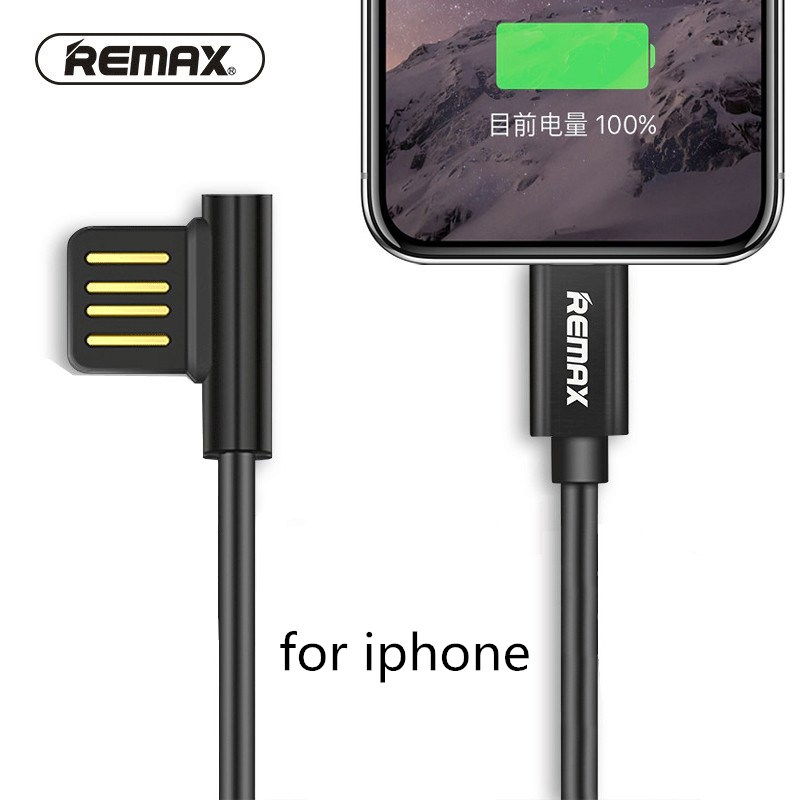 Remax USB Mobile Phone Charging Cable iOS 11 Phone Cables 2 1A Fast Charging Data Sync Cable For iPhone 5 5s 6 6s 7 8 Plus X XS in Mobile Phone Cables from Cellphones Telecommunications