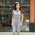 Hot Sale Cotton O-neck T Shirt Capri Pants 2 Piece Set Suit For Women 2017 Summer Style Tracksuits Women's Suit