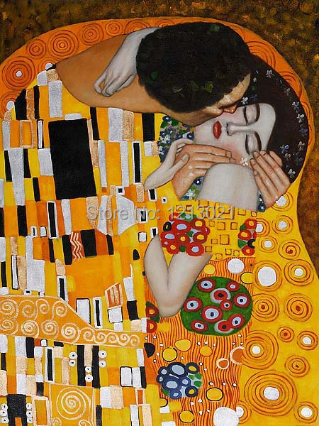 Custom,The Kiss by Gustav Klimt size 20x30inch,Paris Through the ...