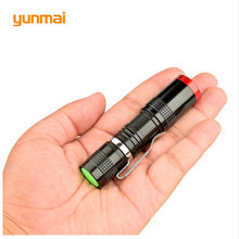 yunmai Mini Penlight CREE Q5 LED Flashlight Torch Pocket Led Light 3 Switch Modes Outdoor Camping Lights Use AA / 14500(China)
