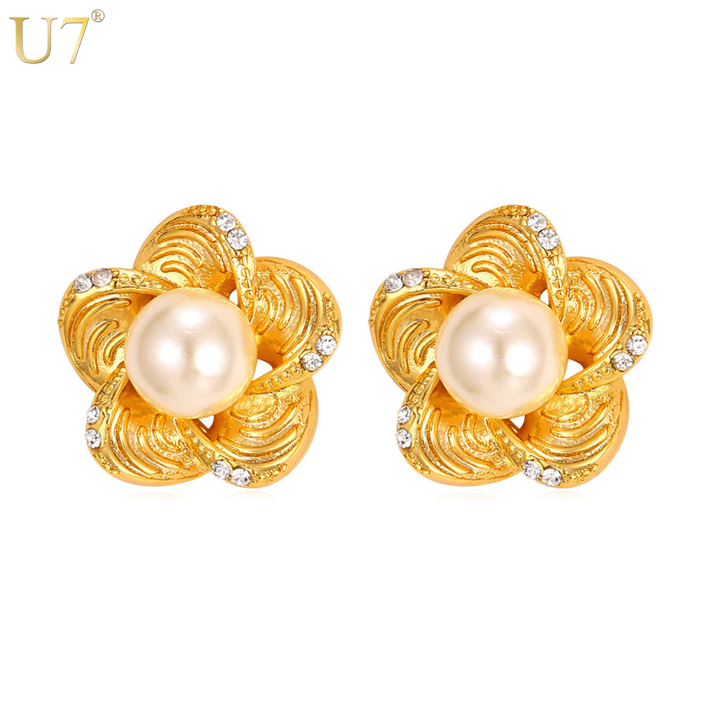 je women image product sale stud pearl jewelry earrings earring flower charm crystal products charms party trendy