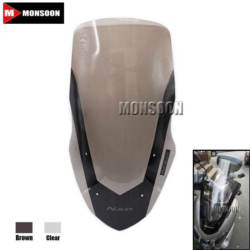 где купить For YAMAHA NMAX155 2016 Modified Motorcycle Windshield scooter Steel solidification WindScreen Wind Deflectors Clear по лучшей цене