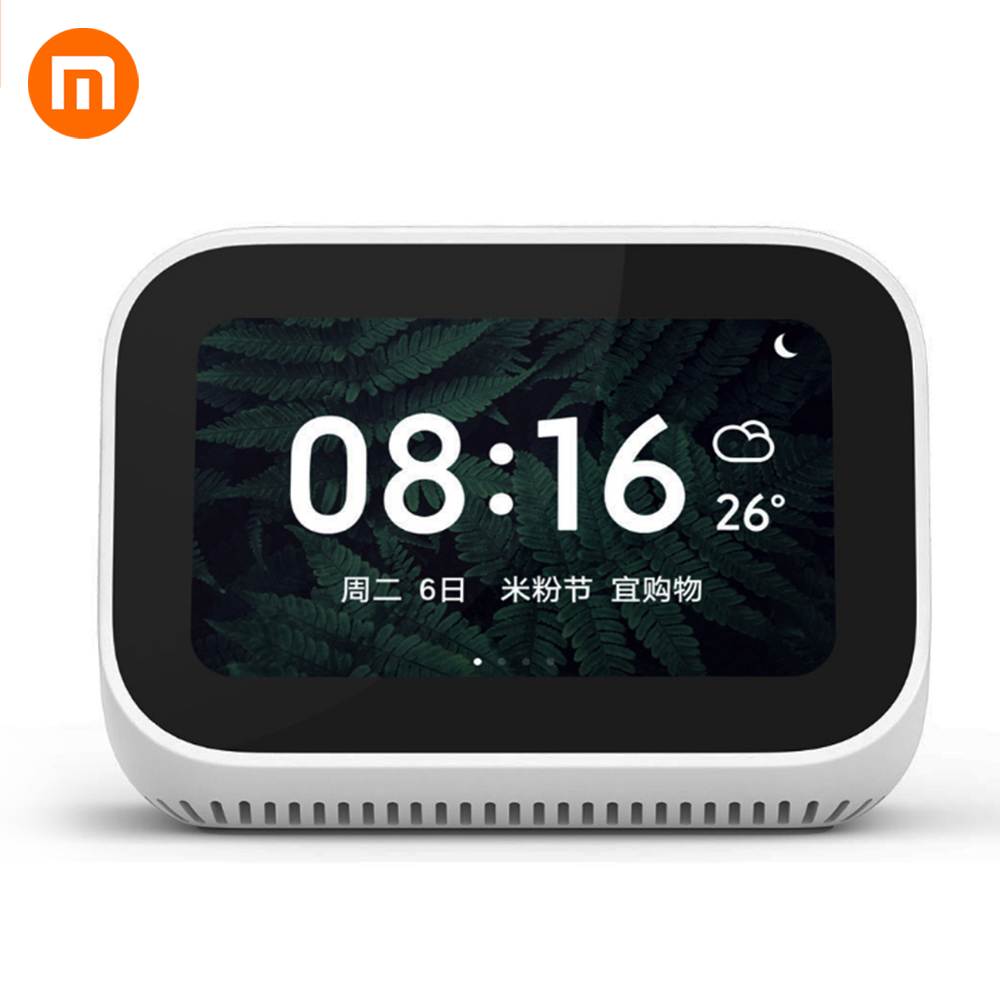 Original Xiaomi AI Touch Screen Bluetooth 5 0 Speaker Digital Display Alarm Clock WiFi Smart Connection