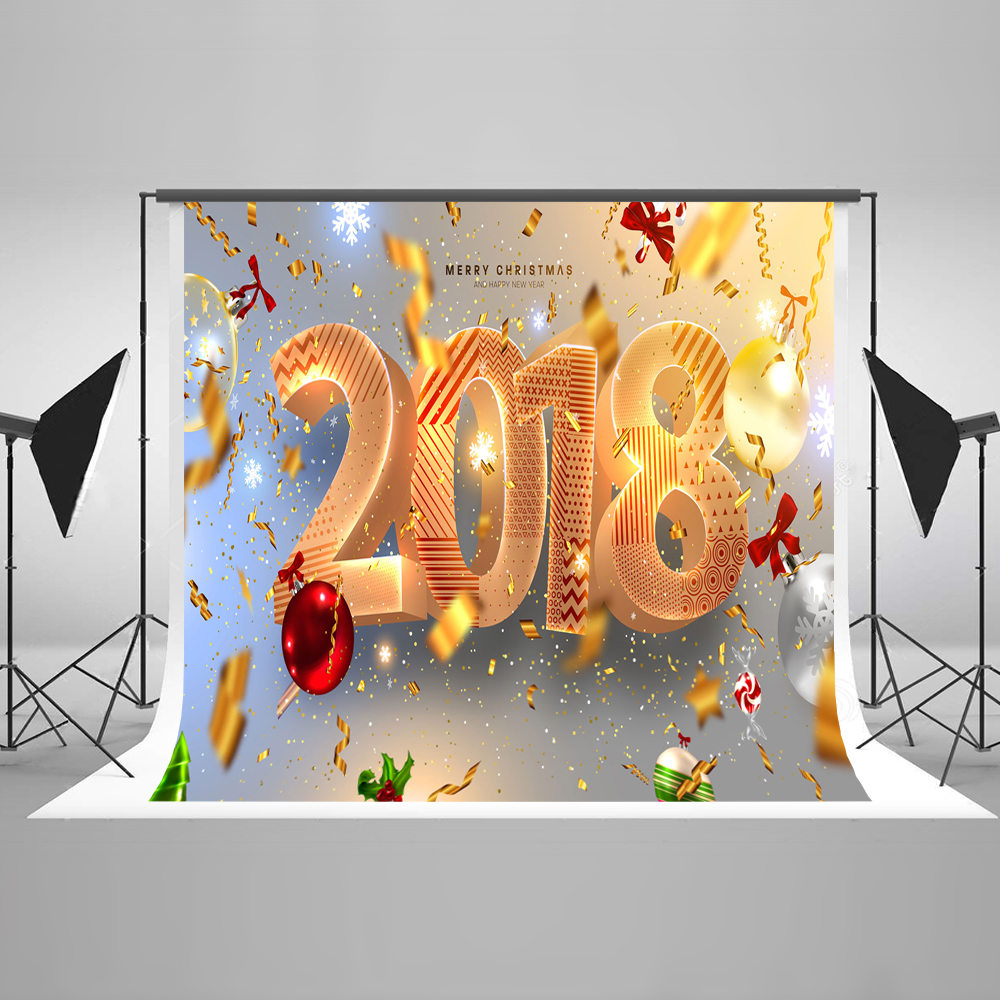 Kate Happy New Year 2018 Photo Background Photography Backdrop Christmas Decoration For Home Backgrounds For Photo Studio kate photo background scenery