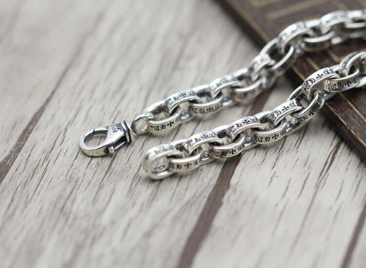 100% 925 en argent sterling hommes bracelet de luxe t hommes haute bijoux cadeau d'anniversaire homme homme 925 bracelet en argent sterling bracelet à breloques - 2