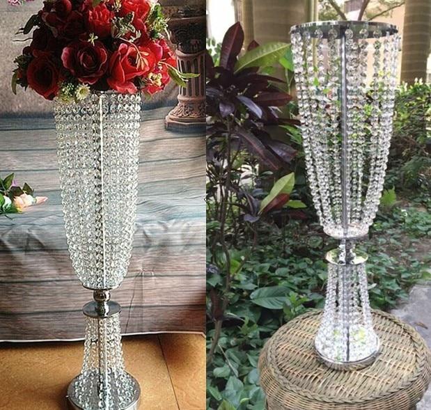 100cm Tall Acrylic Crystal Wedding Road Lead Props / Wedding Table Event  Party Decoration/ Flower Ball Wedding Holder Decoration