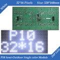 P10 Полу-Открытый Белый цвет СВЕТОДИОДНЫЙ дисплей знак модуль 320*160 мм 32*16 пикселей высокой яркости для прокрутки текста сообщения во главе знак