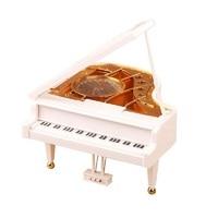 Creatieve boutique piano sky city meisjes verjaardagscadeau doos belettering muziek crystal ball GRATIS VERZENDING