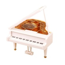 Creative boutique piano sky city girls birthday gift box lettering music crystal ball FREE SHIPPING