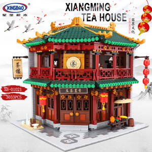 Image 2 - XINGBAO Zhonghua Street Chinatown Building Series The Toon Tea House Pub Set Building Blocks Bricks With Figure Kids Toys Gifts