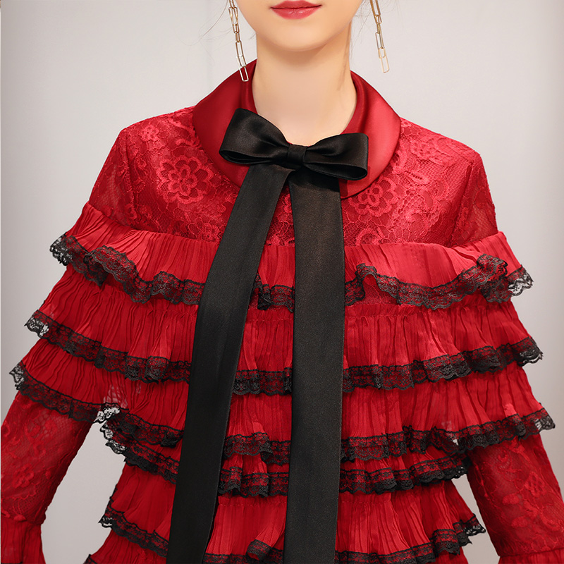 2019 luxe Desgin mère fille robes de mariée Style de gâteau pour la famille correspondant vêtements maman maman et fille robe de soirée - 4