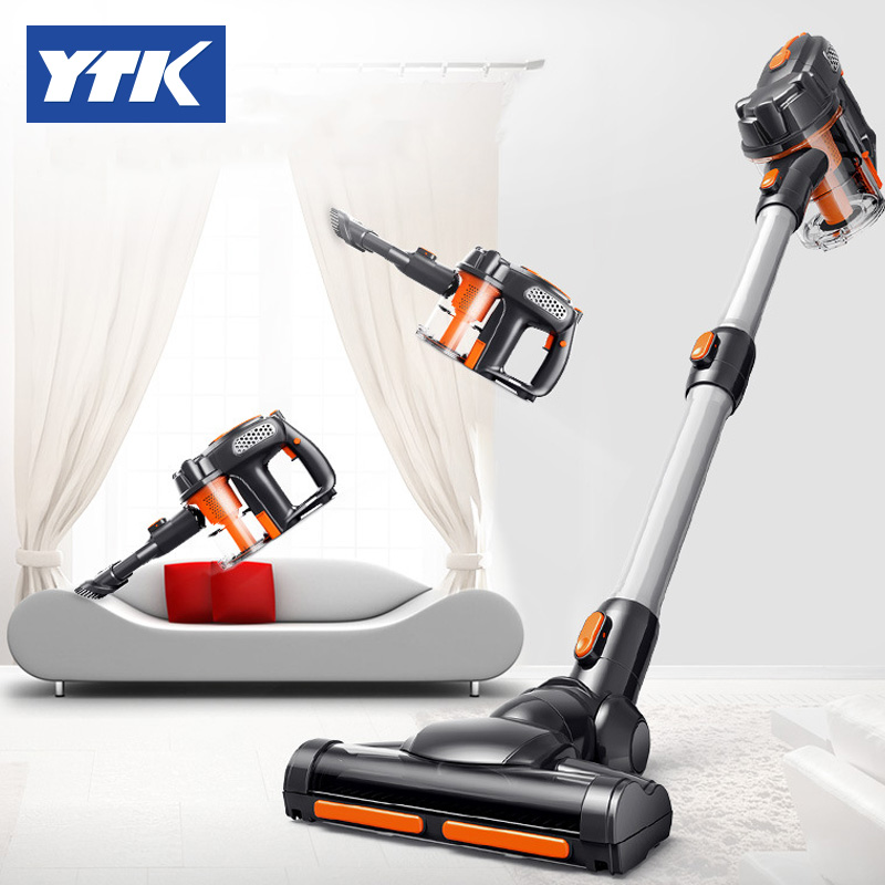 YTK Wireless handheld vacuum cleaner,Strong lithium rechargeable vacuum cleaner for household and cars