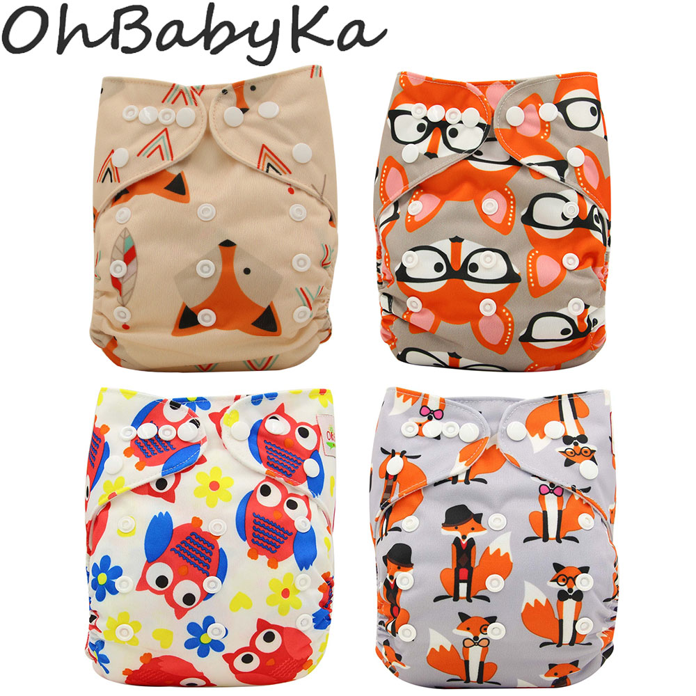 Ohbabyka Cloth Diapers Baby Nappies 2019 Reusable Baby Diapers Cover Bamboo Charcoal Newborn Nappy Changing Pants Fralda De Pano