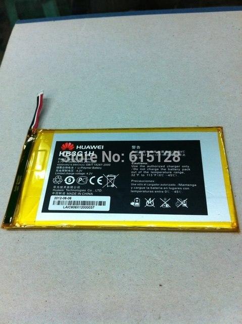 O envio gratuito de bateria original para huawei mediapad 7-inch tablet pc s7-301u 301 w 302 303 hb3g1h