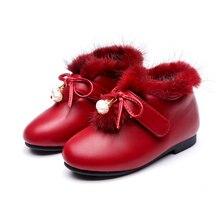 Детские валенки для Обувь для девочек зимняя обувь Дети Снегоступы милые дышащие Сапоги с бантами теплые и удобные Водонепроницаемый