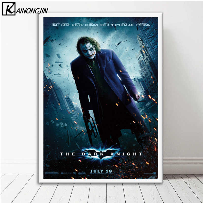 Joker Batman Catwoman Poster Wall Art Canvas Painting Posters And Prints Wall Picture Room Decorative Home Decor