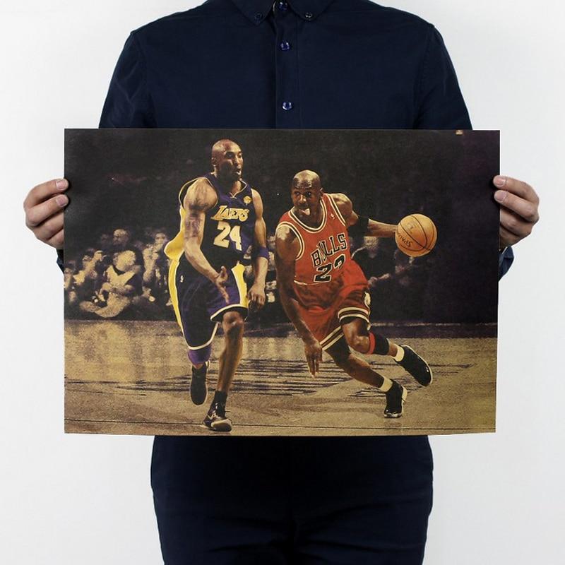 Free shipping,Jodan kobe B/basketball ALL star/sport poster/kraft paper/bar poster/Retro Poster/decorative painting 51x35.5cm