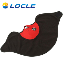 LOCLE Outdoor Thermal Fleece Half Face Mask Cycling Mask Windproof Headwear Motorcycle Face Mask Winter Snowboard Skiing Mask