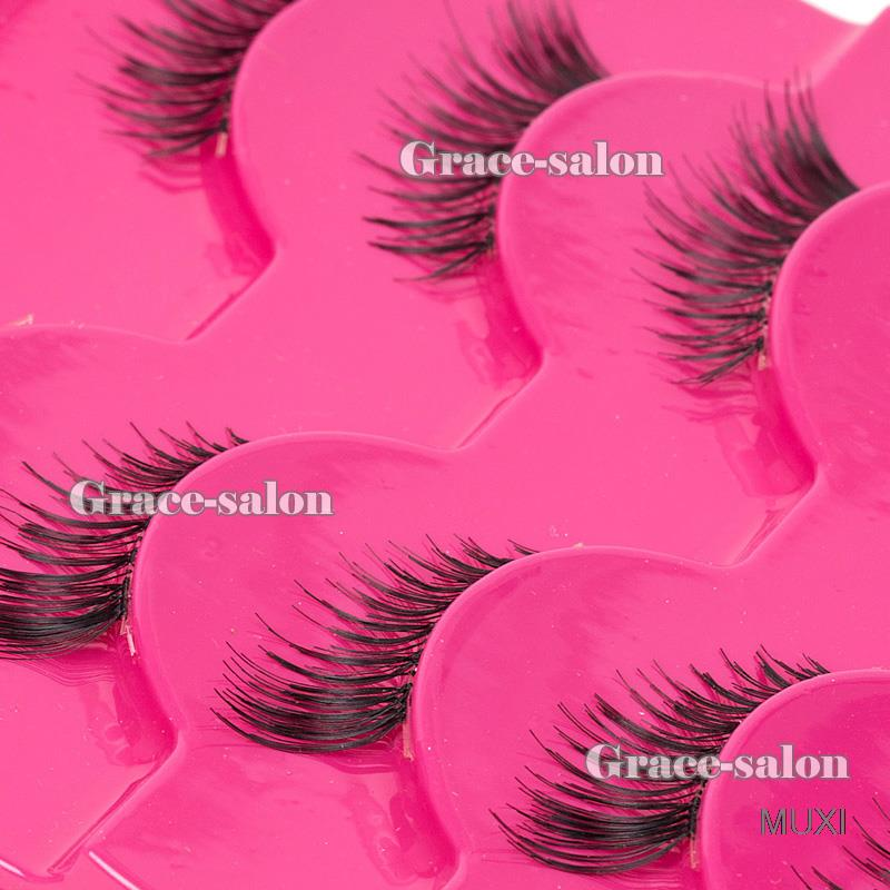 Makeup Half Eyelashes 5 Pairs Winged Mini Corner False Eye Lashes Extension Set