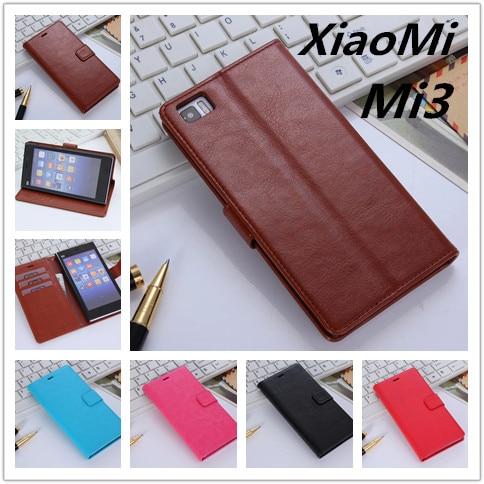 Capa Fundas XiaoMi Mi3 Luxusní pouzdro na peněženku Flip kožený kryt stojan na karty Držák peněžních slotů pouzdro pro XiaoMi Mi3 M3 Miui3 Azns