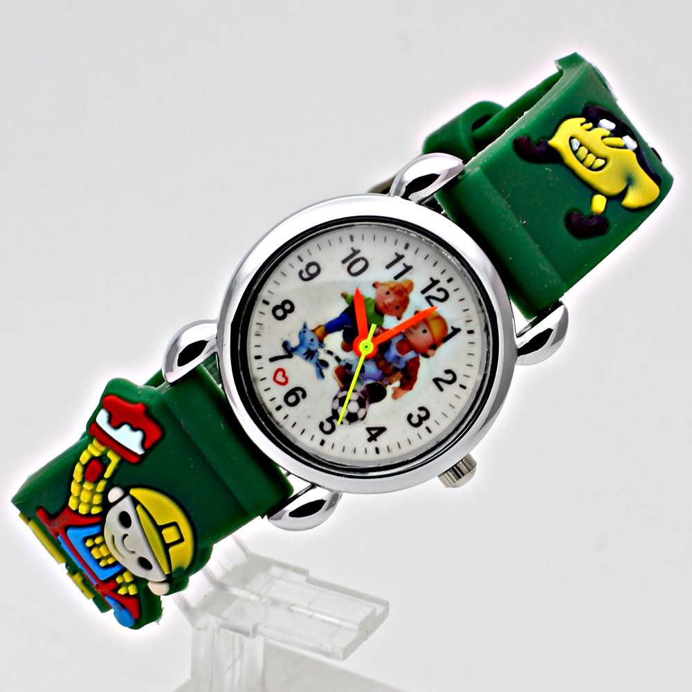 Fashion 3D Child Watch Silicon Cartoon Børn Sport Watch Boy Quartz - Børneure - Foto 3