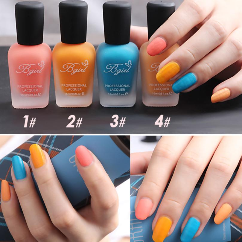 Candy Color Nail Polish: ISHOWTIENDADIY30 Colors Scrub Matte Tasteless Candy Color