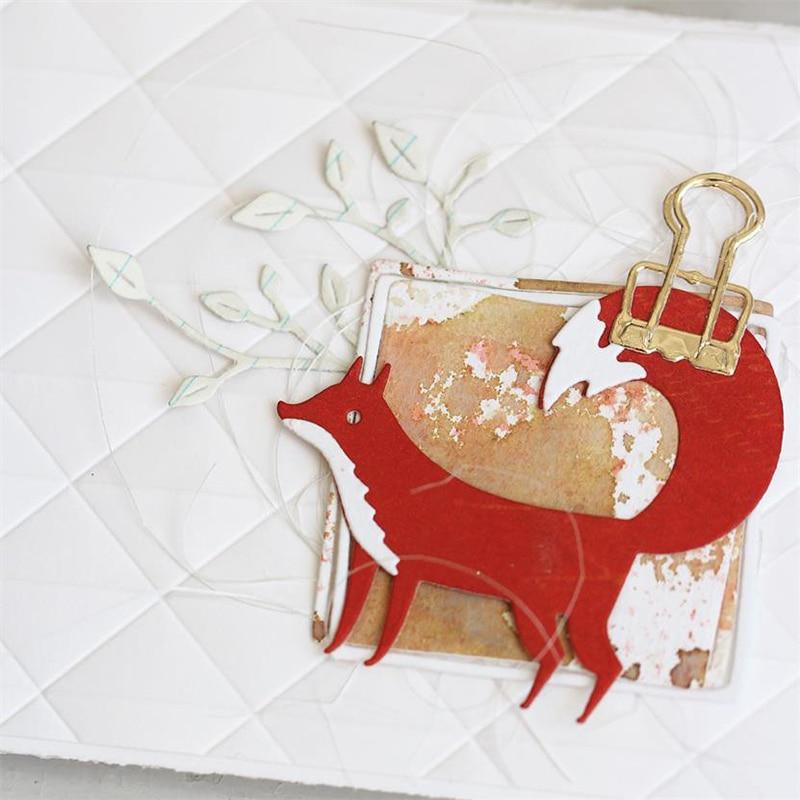 JC Metal Cutting Dies for Scrapbooking Fox Stencil Handmade Paper Die Cut Card Making Model Craft 2019 Animal Decoration