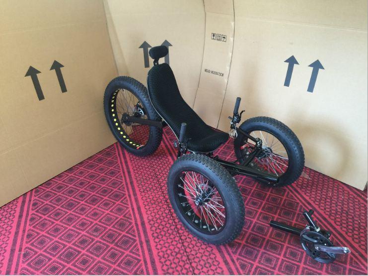Recumbent Bike Carbon Fiber 26 inch rear wheal disc brake wheelset three wheel Tricycle Mini Compact City Tour Bike High Quality
