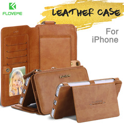 FLOVEME Original Leather Case For <font><b>iPhone</b></font> <font><b>6</b></font> 6s 7 8 Plus Cases Card Slot Phone Cover For <font><b>iPhone</b></font> X XS Max XR Wallet <font><b>Flip</b></font> Funda Capa