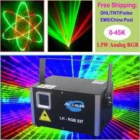 1500 МВт RGB Лазерный свет Семья вечерние/Дискотека/ночной клуб лазерный проектор/DJ этап лазерная проекция