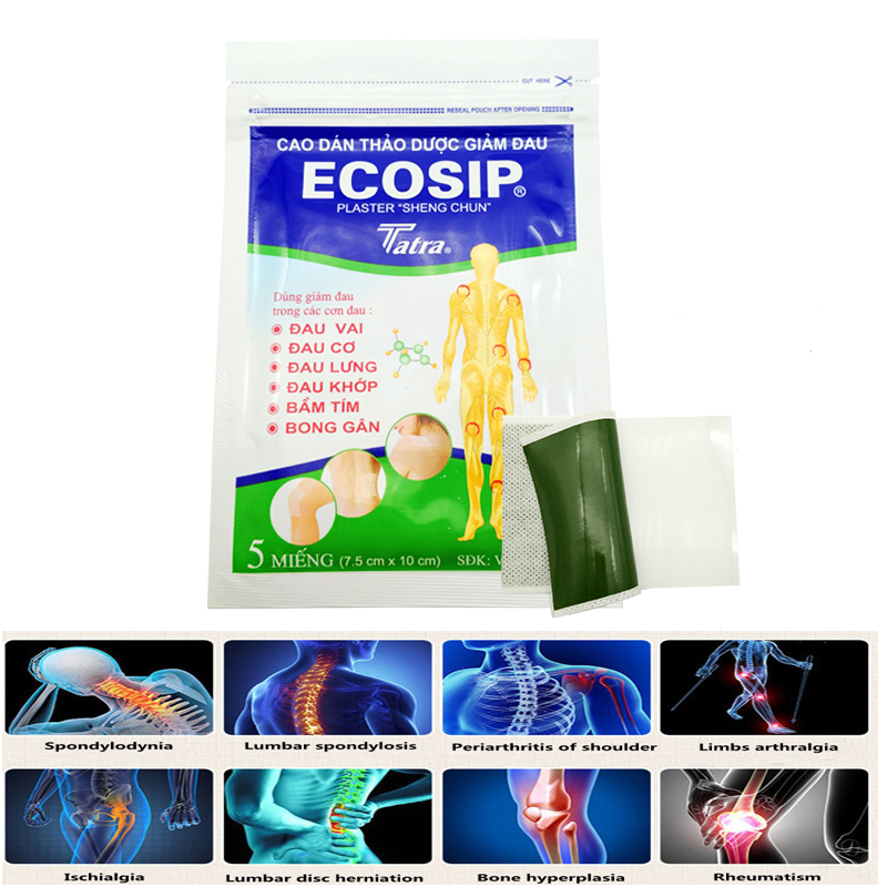 ECOSIP 15pcs  Medical Plasters For Osteopathy Treatment Vietnam Herb Menthol Self Adhesive Rheumatism Spondylosis  Pain Relief