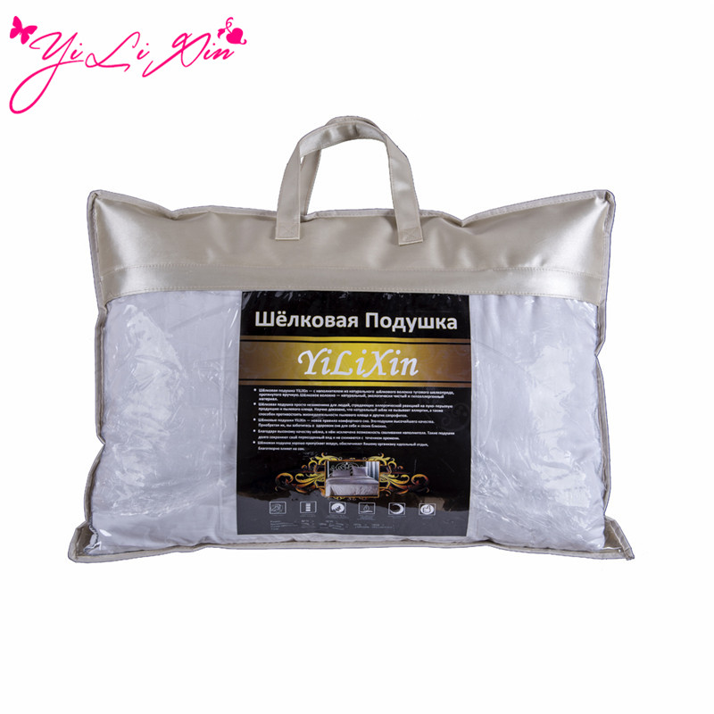 Brand 'YiLiXin''Silk Place Silk Pillow Fast Delivery From Russia Physical Therapy Anti snoring Pure Natural Silk Pillow 50*70