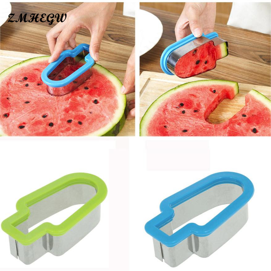 2017 12 * 6.5 * 4cm Creative Watermelon Slicer Ice Cream Popsicle Shape Melon CutterMold Tool Fashion Design Beautiful Practical форма для нарезки арбуза