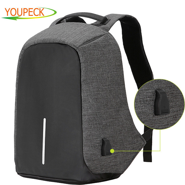 17.3 15.6 in Laptop Bag Men Backpacks Oxford Anti Theft Backpack Women Bag USB Charge School Mochila Waterproof Travel Back Pack