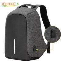 17.3 15.6 in Laptop Bag Men Backpacks Oxford Anti Theft Backpack Women Bag USB Charge School Mochila Waterproof Travel Back Pack