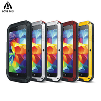 Love Mei Case For Samsung Galaxy S5 Cover Aluminum Metal Armor Shockproof Waterproof Case For Samsung