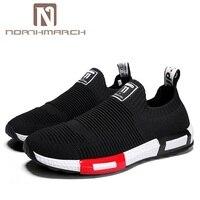Northmarch 2018 Для мужчин; повседневная обувь кроссовки без шнурков Для мужчин дышащие туфли лодочки сетки Мужская обувь лето Tenis masculino adulto Zapatos