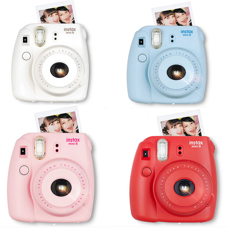Fuji mini 8 camera Fujifilm Fuji Instax Mini 8 Instant Film Photo Camera New 5 Colors White Pink Yellow Blue Red Hot Sale 2016 genuine compact fuji fujifilm instax mini 8 camera instant printing regular film snapshot shooting photos white red purple pink